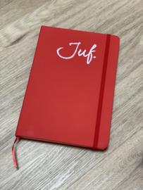Rood JUF. Notitieboekje Krijt