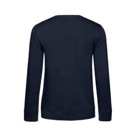 Donkerblauw ONDERWIJSASSISTENT. Dames Sweater Krijt