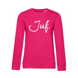 Fuchsia JUF. Ladyfit Sweater Krijt