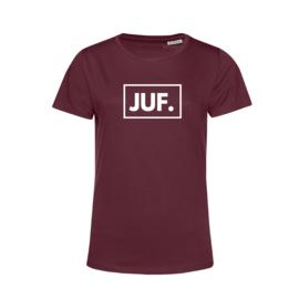 Bordeaux JUF. Shirt Ronde hals Klas