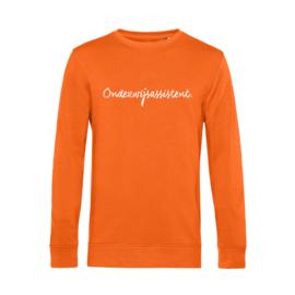 Oranje ONDERWIJSASSISTENT. Heren Sweater Krijt