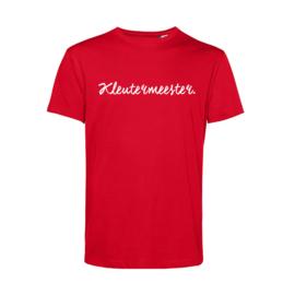 Rood KLEUTERMEESTER. Shirt Krijt