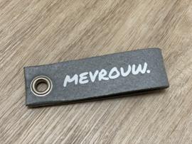 Muisgrijs MEVROUW. Vilten Sleutelhanger