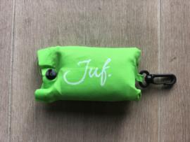 Appelgroen JUF. boodschappentasje krijt