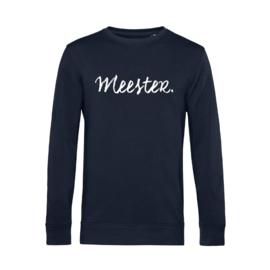 Donkerblauw MEESTER. Lightweight Sweater Krijt