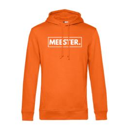 Oranje MEESTER. Hoodie Klas