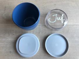 Donkerblauw JUF. Lunchpot Krijt