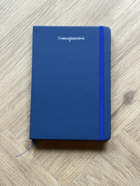Donkerblauw ONDERWIJSASSISTENT. Notitieboekje Krijt