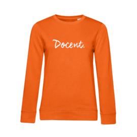 Oranje DOCENT. Dames Sweater Krijt
