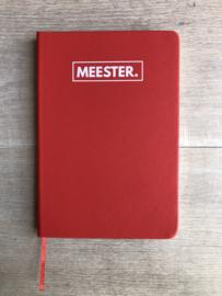 Rood MEESTER. Notitieboekje Klas
