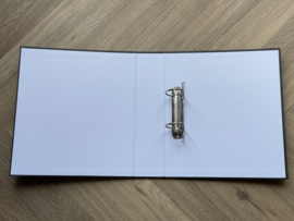Zwart JUF. A4 map 40mm met 2-rings