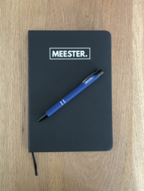 Donkerblauw MEESTER. Pen Klas