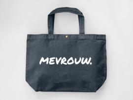 Denim MEVROUW. Canvas shopper (Dubbelzijdig)