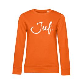 Oranje JUF. Ladyfit Sweater Krijt