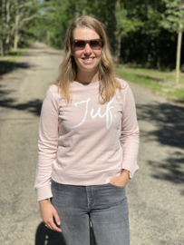 Pastel roze JUF. Ladyfit Sweater Krijt