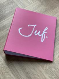 Fuchsia JUF. A4 map 40mm met 4-rings