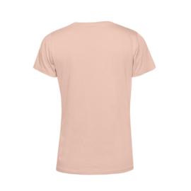 Pastel roze MEVROUW. Shirt Ronde hals