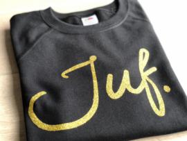 Zwart JUF. Ladyfit Sweater Krijt met Glitter Goud