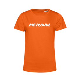 Oranje MEVROUW. Shirt Ronde hals