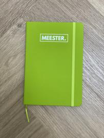 Groen MEESTER. Notitieboekje Klas