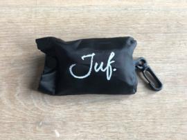 Zwart JUF. boodschappentasje krijt