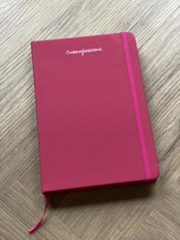 Roze ONDERWIJSASSISTENT. Notitieboekje Krijt
