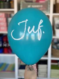 Diverse kleuren JUF. Ballonnen (5 stuks)