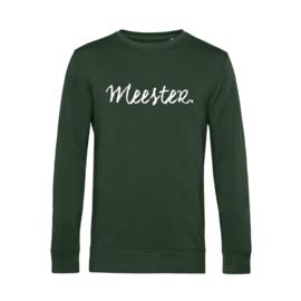 Flessengroen MEESTER. Lightweight Sweater Krijt