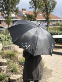 Zwart JUF. Paraplu Krijt