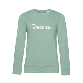 Pastel mint DOCENT. Dames Sweater Krijt