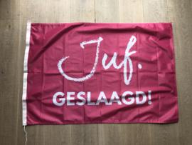 Fuchsia JUF. Geslaagd Vlag Krijt