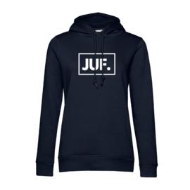 Donkerblauw JUF. Hoodie klas