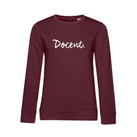 Bordeaux DOCENT. Dames Sweater Krijt