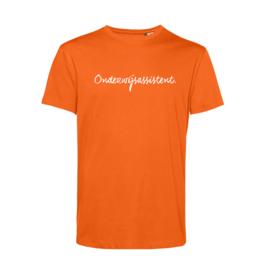 Oranje ONDERWIJSASSISTENT. Heren Shirt Krijt
