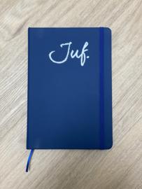 Donkerblauw JUF. Notitieboekje Krijt