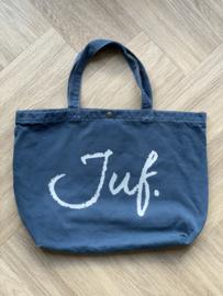 Denim JUF. Canvas shopper Krijt (Dubbelzijdig)