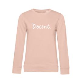 Pastel roze DOCENT. Dames Sweater Krijt