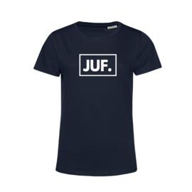 Donkerblauw JUF. Shirt Ronde hals Klas
