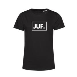 Zwart JUF. Shirt Ronde hals Klas