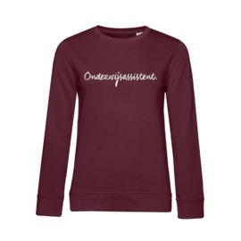 Bordeaux ONDERWIJSASSISTENT. Dames Sweater Krijt