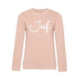 Pastel roze JUF. Sweater Krijt