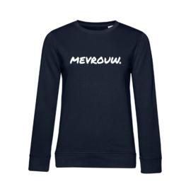 Donkerblauw MEVROUW. Ladyfit Sweater Krijt