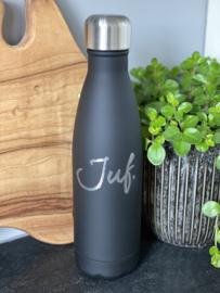PRE-ORDER: Zwart Soft JUF. Thermosfles Krijt