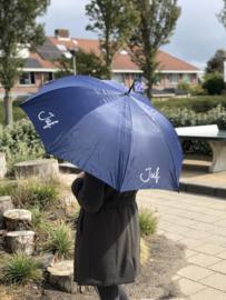 Donkerblauw JUF. Paraplu Krijt