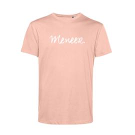 Pastel roze MENEER. Shirt Krijt