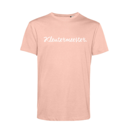 Pastel roze KLEUTERMEESTER. Shirt Krijt