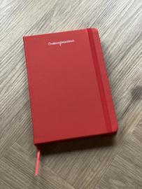 Rood ONDERWIJSASSISTENT. Notitieboekje Krijt