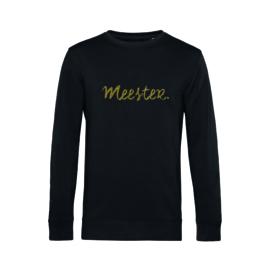 Zwart MEESTER. Sweater Krijt met Glitter Goud