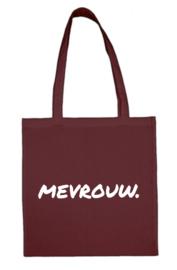 Bordeaux MEVROUW. katoenen tas Krijt (Enkelzijdig)