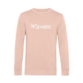 Pastel roze MENEER. Lightweight Sweater Krijt